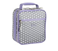 Mackenzie Lavender/Grey Dot Classic Lunch Bag