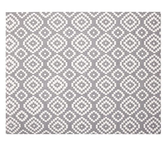 Beckett Rug, 3x5' Gray
