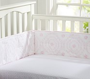Veronica Organic Crib Fitted Sheet, Pink
