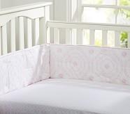 Veronica Organic Crib Fitted Sheet, Pink