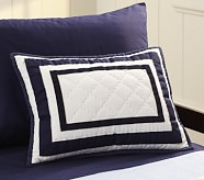 Harper Small Quilted Sham, Navy