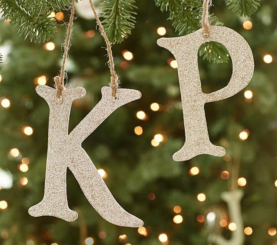 Glitter Alphabet Letter Ornaments Pottery Barn Kids