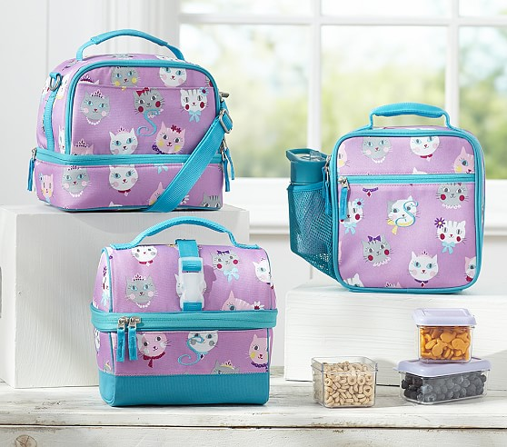 Mackenzie Lavender Kitty Lunch Bags