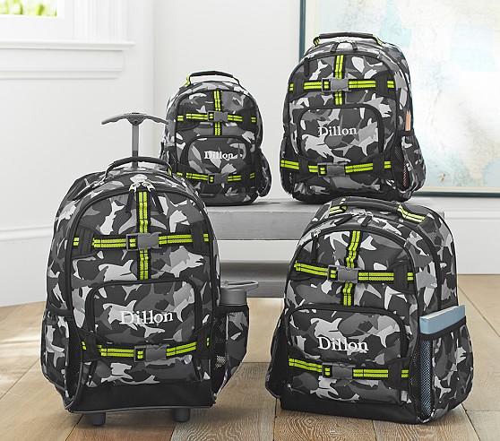 Mackenzie Gray Shark Camo Backpacks
