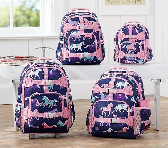 Mackenzie Navy Horse Backpacks