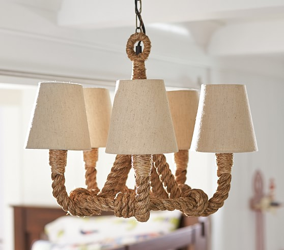 Pottery Barn Chandelier Wiring Instructions: Rope Chandelier Pendant