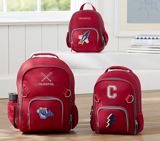 Fairfax Solid Red Backpacks