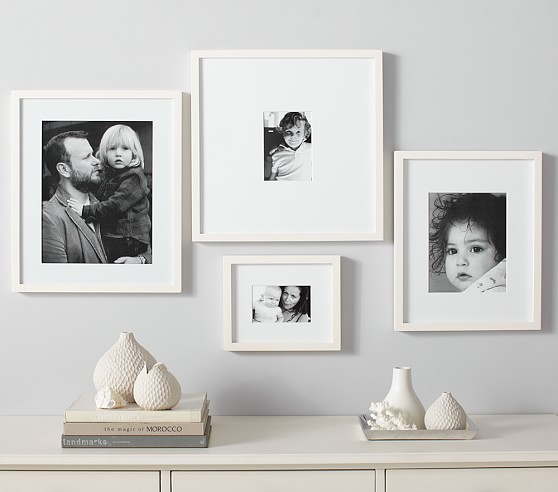 White gallery frames pottery barn kids - White wall picture frames ...