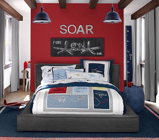 Alex Flange Slipcovered Bed