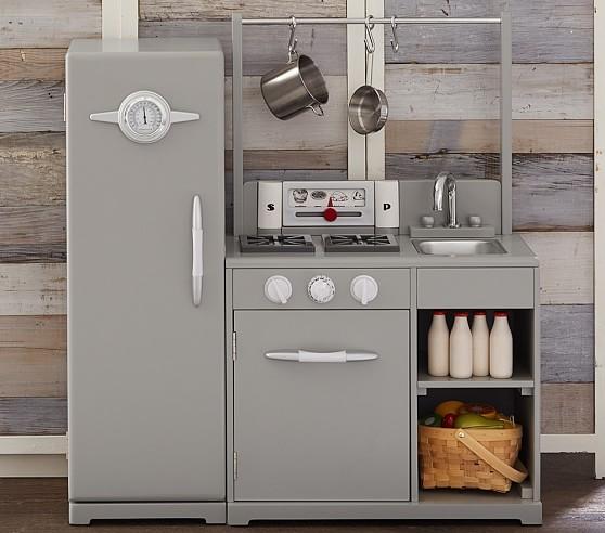 Kitchen Set Retro: Gray All-in-1 Retro Kitchen