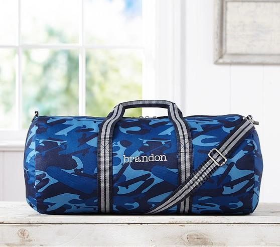 Mackenzie Blue Camo Duffle Bag