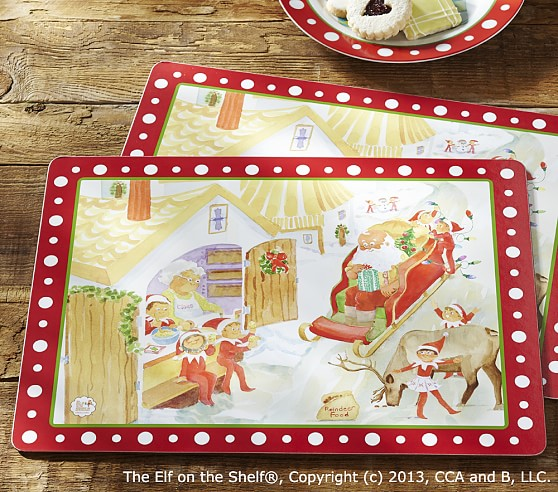 The Elf On The Shelf 174 Placemat Set Pottery Barn Kids