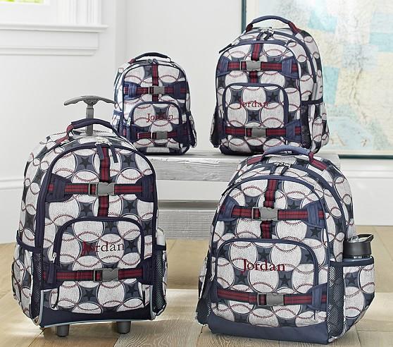 Mackenzie Blue Baseball Backpacks