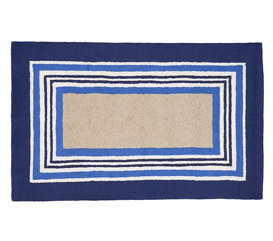 Tailored Striped Rug - Blue