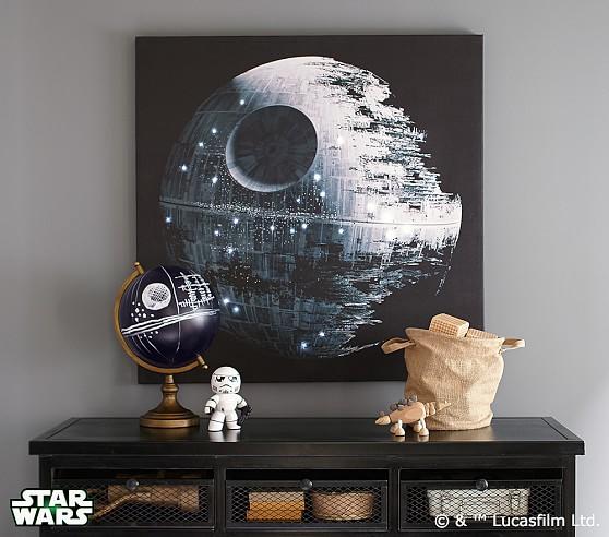 Star Wars Death Star Led Artwork Pottery Barn Kids