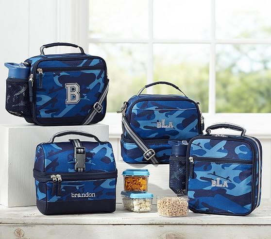 Mackenzie Blue Camo Lunch Bags