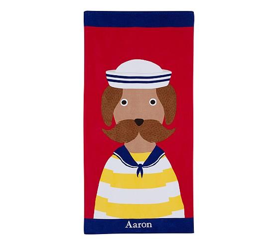 Nantucket Puppy Beach Towel