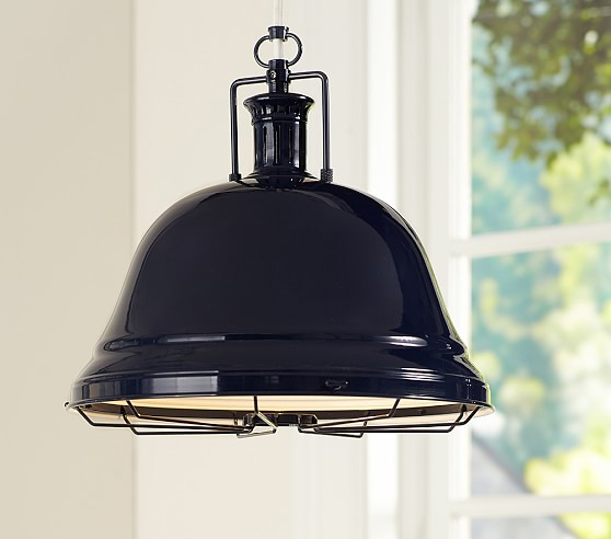 Pottery Barn Lights Hanging Lights: Navy Depot Hanging Pendant