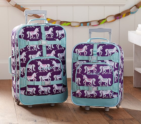 Mackenzie Plum Unicorn Luggage Pottery Barn Kids