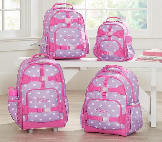 Mackenzie Lavender Hearts Backpacks Pottery Barn Kids