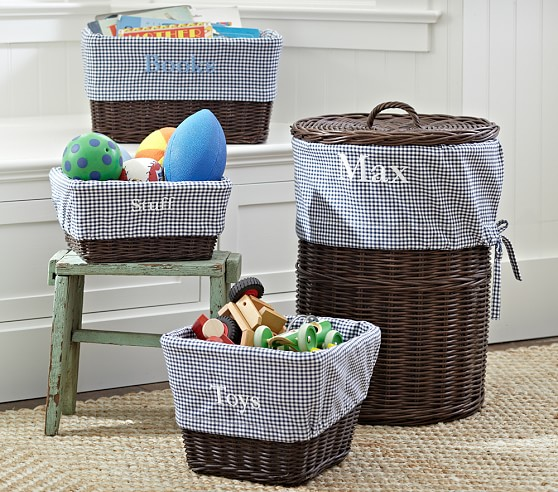 Navy Gingham Sabrina Liners Pottery Barn Kids