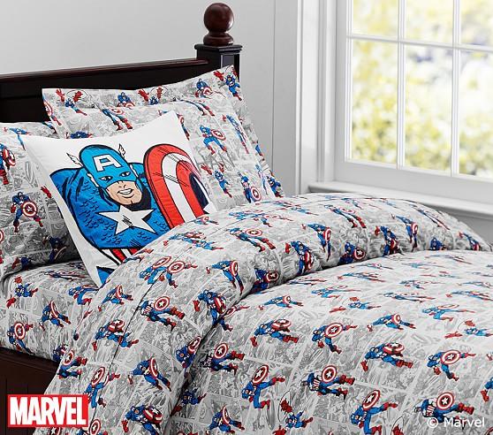 Captain America™ Comic Duvet Cover