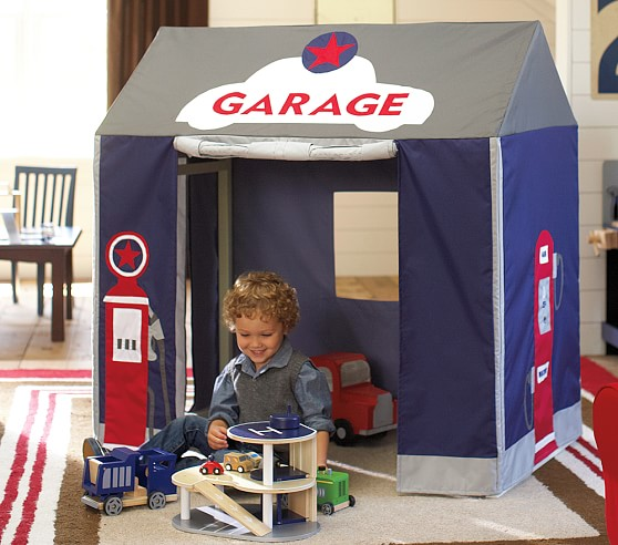 Garage playhouse pottery barn kids for Playhouse with garage plans