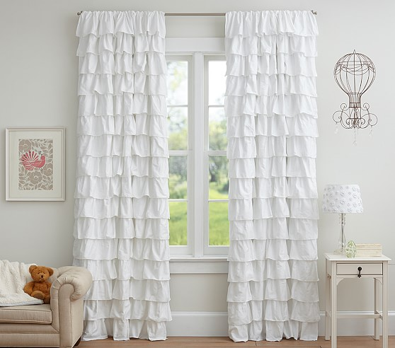 White Ruffle Blackout Curtains 96 - Best Curtains 2017