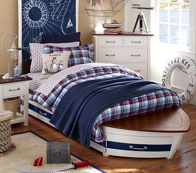 Speedboat Bed Amp Trundle Pottery Barn Kids