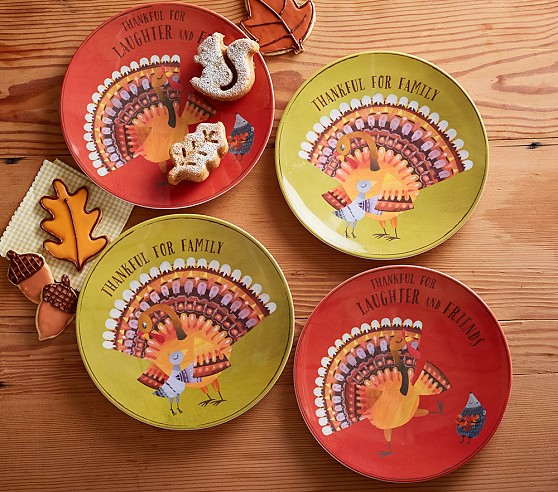 Thanksgiving plates pottery barn kids for Pottery barn thanksgiving