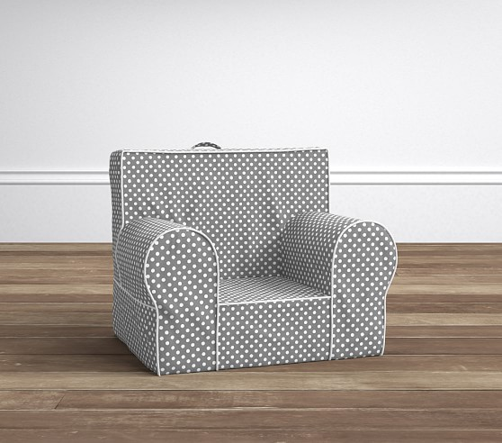 Gray Mini Dot With White Piping My First Anywhere Chair®
