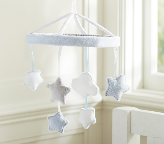 Blue Stars And Clouds Crib Mobile Pottery Barn Kids