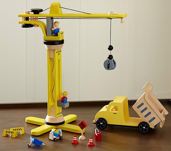 Construction Site Toys For Boys : Construction crane dump truck pottery barn kids
