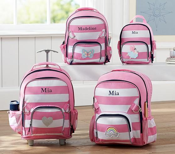 Fairfax Pink/White Stripe Backpacks