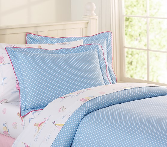 nantucket polka dot duvet cover pottery barn kids. Black Bedroom Furniture Sets. Home Design Ideas