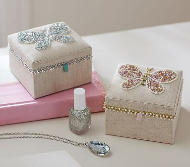 Beaded Butterfly Small Jewelry Box Pottery Barn Kids