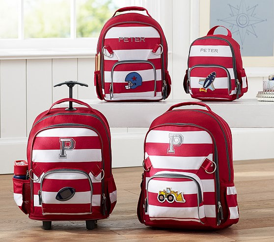 Fairfax Red White Stripe Backpacks Pottery Barn Kids