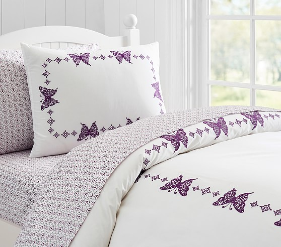 Windsor Embroidered Butterfly Duvet Cover