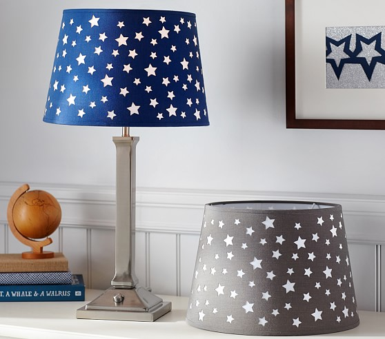 star cutout shade pottery barn kids. Black Bedroom Furniture Sets. Home Design Ideas