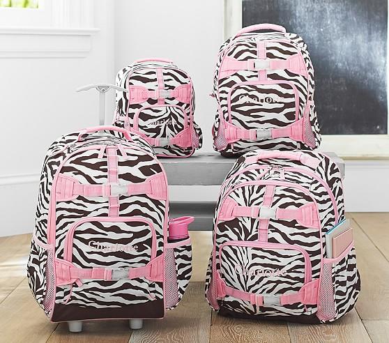 zebra print rolling backpack Backpack Tools