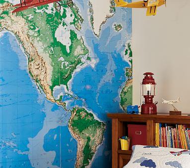 jumbo world map mural pottery barn kids jumbo princess wall decor stickers removable 2 sets