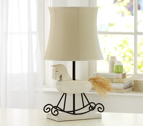 Pottery Barn Horse Bit Lamp: Nursery Rocking Horse Lamp