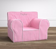 Oversized Light Pink Mini Dot with White Piping Anywhere Chair®