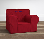 Oversized Anywhere Chair® Insert & Slipcover Set, Red