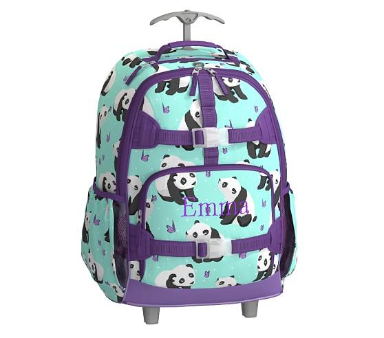 Mackenzie Aqua Panda Backpack Pottery Barn Kids