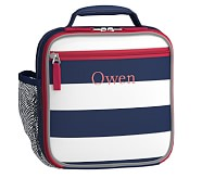 Classic Lunch Bag, Fairfax Stripe Navy/White, No Patch