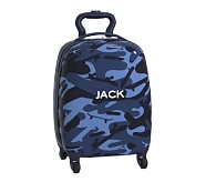 Hard-Sided Small Spinner Luggage, Mackenzie Blue Skateboard Camo