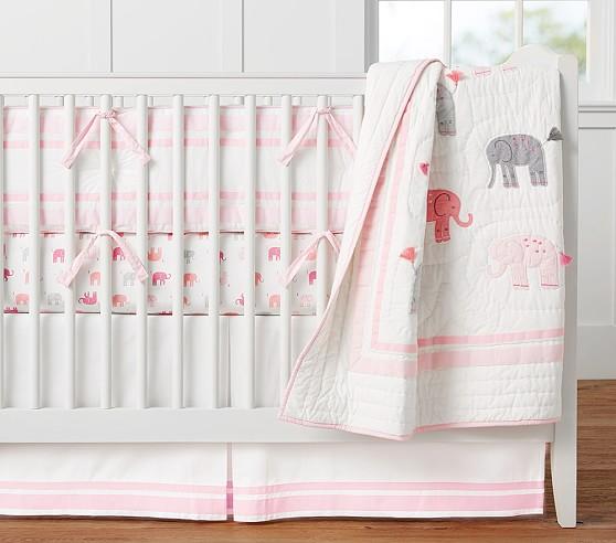Organic Harper Elephant Nursery Bedding Set