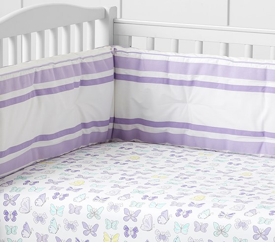 Organic Butterfly Crib Fitted Sheet