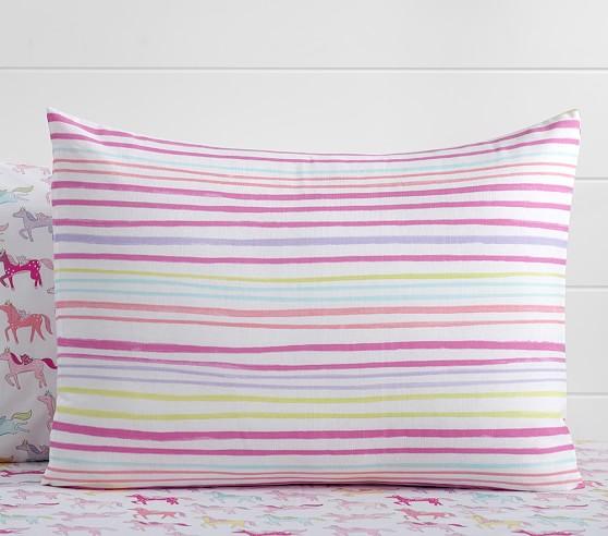 Rainbow Stripe Duvet Cover Pottery Barn Kids